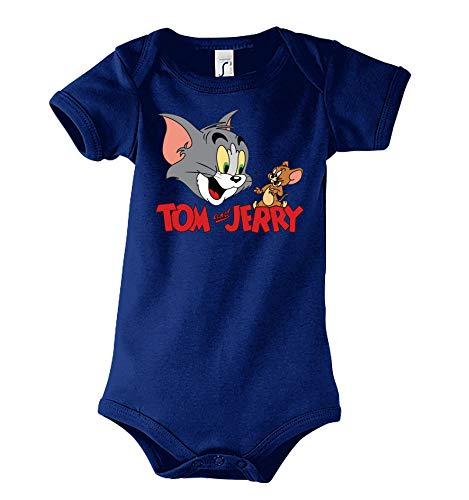 Youth Designz Baby Body Strampler Modell Tom Jerry Tom, Gr. 3-6 Monate, Navyblau Youth Toms