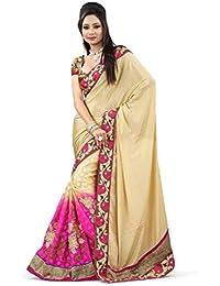 Vinayak Textiles Saree (Pink)