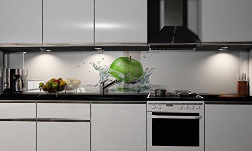 Küchenrückwand-Folie Green Apple Klebefolie Spritzschutz Küche Fliesenspiegel Möbel Rückwand selbstklebend | mehrere Größen -
