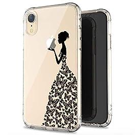 JIAXIUFEN iPhone XR Case Clear Cute Creative Design Slim Soft Flexible TPU Back Cover Phone Case for iPhone Xr 2018 6.1 inch