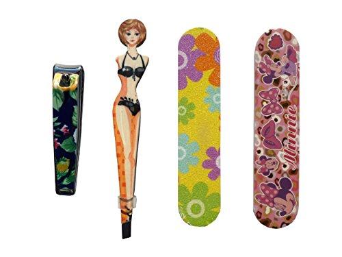 Set di 4 pezzi manicure e pedicure include tagliaunghie / Lima / lucidatore / morsetto. Con frantumi. Set per la cura personale.