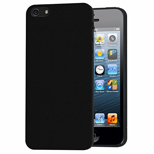 Cover iPhone SE, iVoler Cover iPhone SE / 5 / 5S Silicone Case Molle di TPU Sottile Custodia per iPhone SE / 5 / 5S - Nero