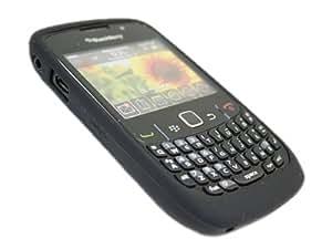 Genuine Blackberry 8520 Curve Black Silicon Skin Tub Case