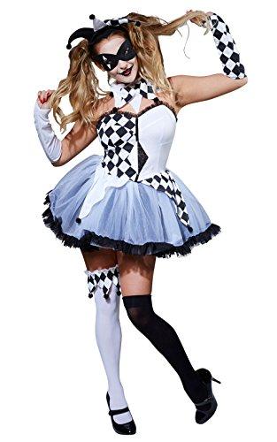 Rubie 's Offizielles Damen jesterlla Halloween Circus Erwachsenen-Kostüm-XS
