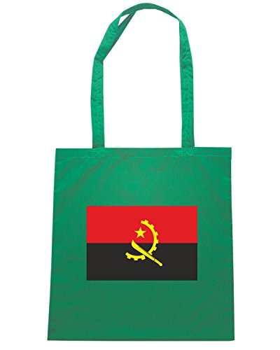T-Shirtshock - Borsa Shopping TM0156 Angola flag Verde