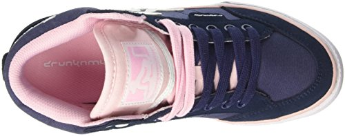 DrunknMunky Boston Classic, Scarpe da Tennis Donna Blu (Navy Light/Pink)