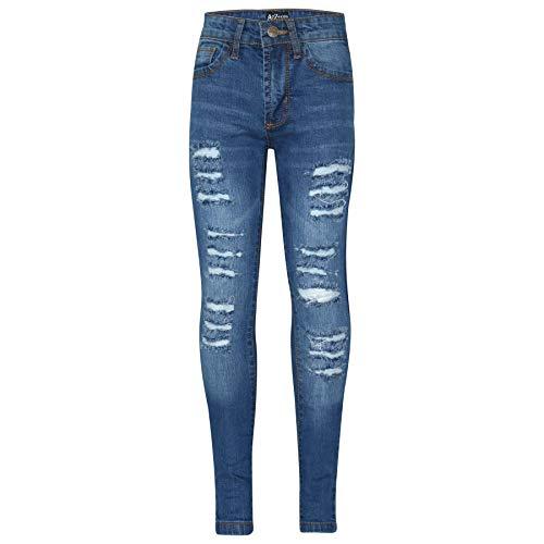 A2Z 4 Kids Kinder Mädchen Dünn Jeans Designer Denim - Girls Jeans JN28 Mid Blue 11-12 Jeans Designer-jeans