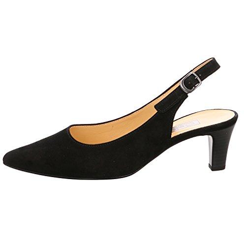 Gabor Fashion Damenschuhe 41.550.17 Damen Pumps Sling Pumps Leder (Wildleder) Schwarz (schwarz), EU 40.5