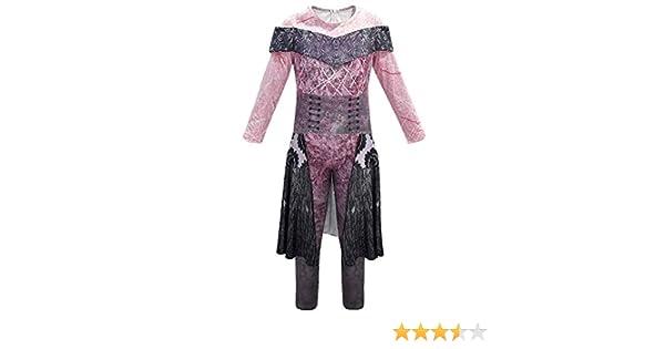 Descendants 3 Audrey Mal Costume Girls Jumpsuit Halloween Book Week Kids Cosplay