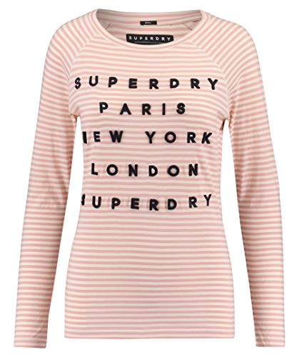 Superdry Damen Shirt Applique Langarm rosa (311) M -