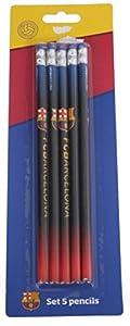 Export.CM 097237 FC Barcelona - Juego de lápices (5 Unidades), Multicolor