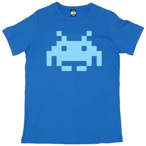 Men's Large Invader T-shirt in 10 Colours - S to 2XL