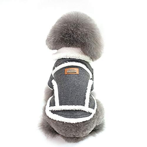 Kostüm Populare - Beito Nordic Jacket Design Haustier-Hunde Wintermantel In populäre Art Kleinen Welpen HundeCotton Kleidung Dunkelgrau Large Size