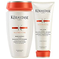 Kerastase Bain Satin 2 & Lait Vital (Shampoo & Conditioner) DUO
