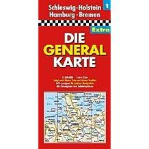 Die Generalkarte Extra Schleswig-Holstein, Hamburg, Bremen 1:200 000