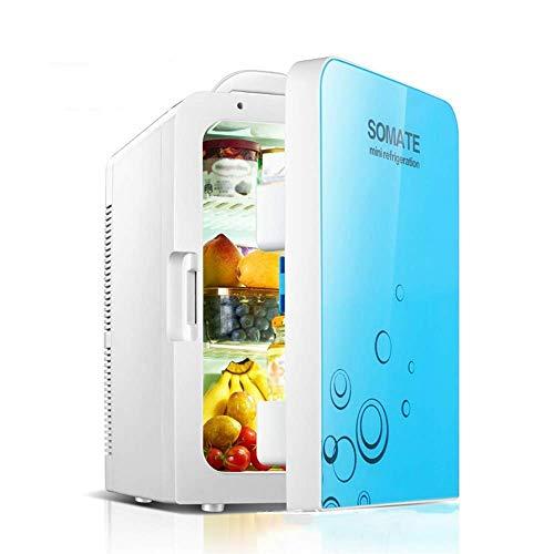 WJSW Thermoelektrischer Mini-Kühlschrank mit Kühlung und Thermostat, Wechselstrom und Gleichstrom, 20 Liter / 30 Dosen - Kühl- und Heizsystem - Kompakt und tragbar - Geeignet für Auto, Bür