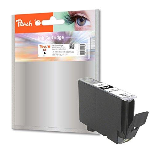 Peach Tintenpatrone photo schwarz kompatibel zu Canon BCI-6 bk (Schwarz 3 6-farb-tinte)