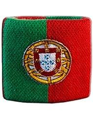 Digni® Poignet éponge avec drapeau Portugal, pack de 2 pièces