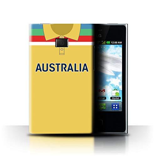 eSwish Hülle/Case für LG Optimus L3 E400 / Australien/Australier Muster/Retro Cricket Weltmeisterschaft 1992 Kollektion