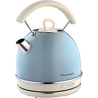 Ariete Kabelloser Wasserkocher Vintage, 1,7 L, 2200 W, blau