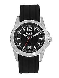 Omax Silicon Analog Watch (black)