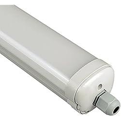 V-TAC - 6284 LED de 120cm 36W IP65VT-1249, plástico y otros materiales, resistente al agua, T5, 36W, color blanco