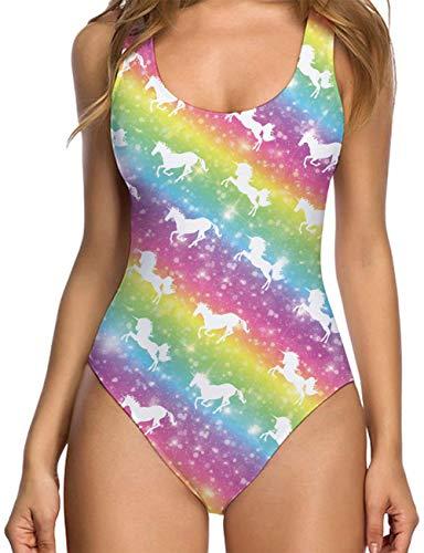 RAISEVERN Traje baño Estampado Unicornio Pieza Bikini