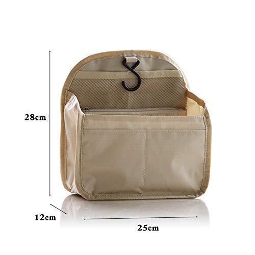 PGYZ wasserdichte Oxford Tuch Rucksack Liner Bag Aufbewahrungstasche Aufbewahrungstasche flaches Khaki 25x12x28cm