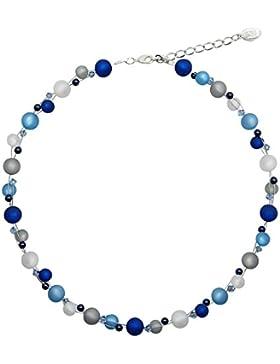 Halskette mit echten Polarisperlen mit Swarovski Elements Polariskette