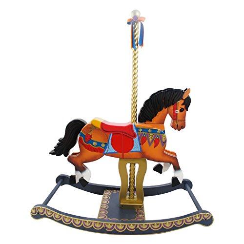 Teamson Kids - Cheval de carrousel à bascule