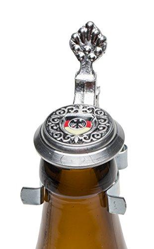Schnabel-Schmuck-Deutschland-Bierflaschen-Zinndeckel-mit-Motiv-und-Adler-schwarzrotgold