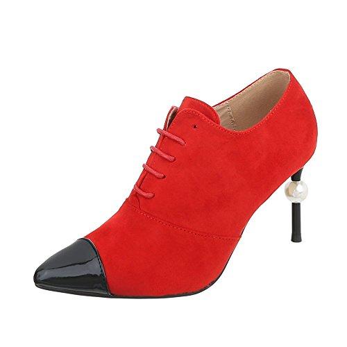 G donna Ankle rosso 19 da tacco a Ital Design Scarpe spillo Stivali Boots 5vnPxxORY