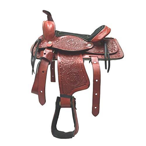 AMI Pferdesattel aus echtem Leder für Kinder