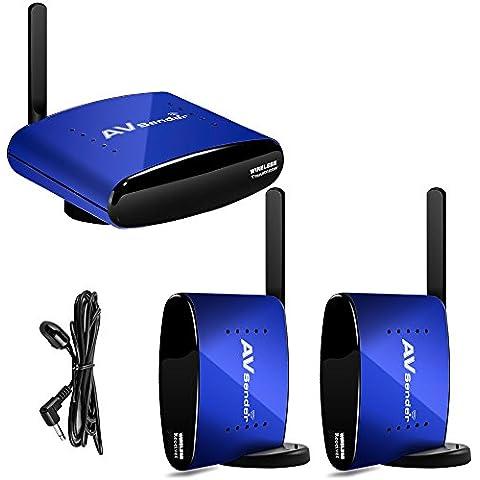 PAKITE PAT-530 5.8GHz 1 transmisor inalámbrico de AV y 2 receptores de 200 M con alargador IR para controlar un DVD/decodificador de TV desde otra estancia para ver TV digital