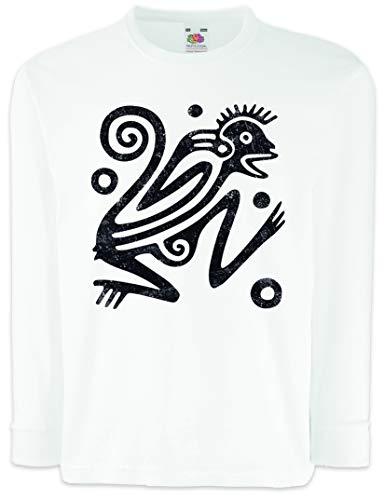 Aztec Ape Camisetas de Manga Larga T-Shirt para Niños Niñas