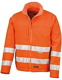 Result Core Herren Hi Vis Winter Softshell Jacke, Wasser und Wind abweisend