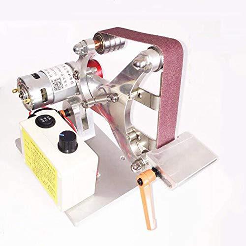 Isunking dc24v new mini belt machine diy levigatrice a nastro angolo costante affilacoltelli micro lucidatura rettifica levigatrice 533 * 30 cintura