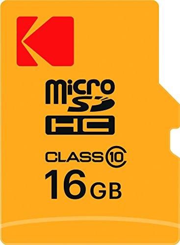 Kodak 16GB microSDHC Speicherkarte mit SD-Adapter Class 10, microSDXC - Karte Raspberry Pi Sd