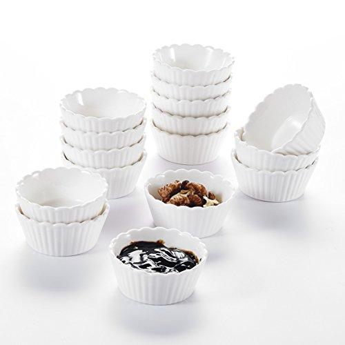 MALACASA, Serie Ramekin.Dish, 16er Set SUPER Mini 2,75