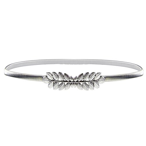 HowYouth Damen Taillengürtel Metallic dekorativ Gürtel schmal Gürtel elastisch Taille Strap Stretchy modisch Gürtel für Kleider (28,7