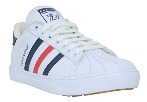 36e79e326a1f 53% OFF on Black Tiger Men s Synthetic Leather Casual Shoes Superstar  8074-Multi on Amazon