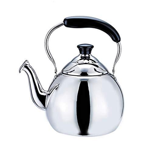 Bouilloire Cuisinière à théière épaissie en Acier Inoxydable Grande capacité sifflet cuisinière à Induction à gaz général MUMUJIN (Capacity : 5L)