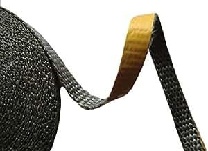 dichtband selbstklebend schwarz 20mm x 2mm ideal f r scheibendichtungen von kamin fen. Black Bedroom Furniture Sets. Home Design Ideas