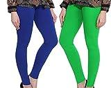 Diagnol Women Cotton Ankle Length Leggings – Pack of 2