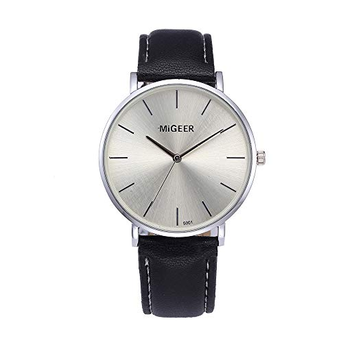 Preisvergleich Produktbild Uhren Herren, Modedesign Leder Retro Design Lederband Analog Quarzuhr Männer Edelstahl Mesh Business Fashion Armbanduhr PU-Leder Uhr