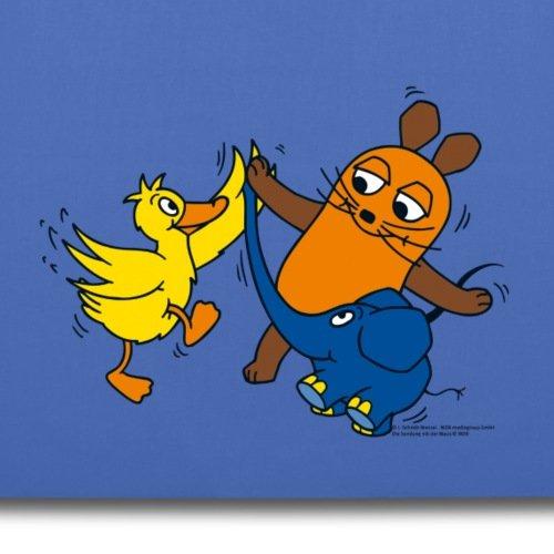Sendung Mit Der Maus Tanzt Mit Elefant Und Ente Stoffbeutel von Spreadshirt® Hellblau