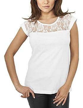 Urban Classics Ladies Top Laces tee, Camiseta para Mujer