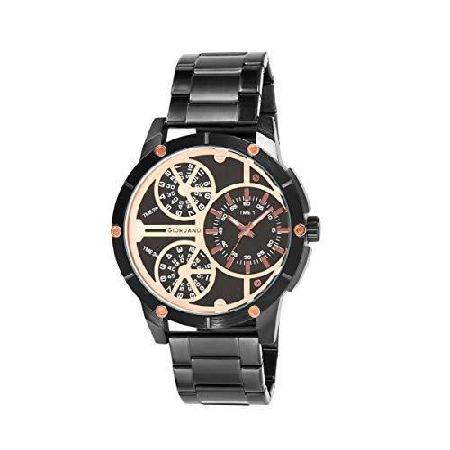 Giordano Analog Black Dial Men's Watch-F1110-44