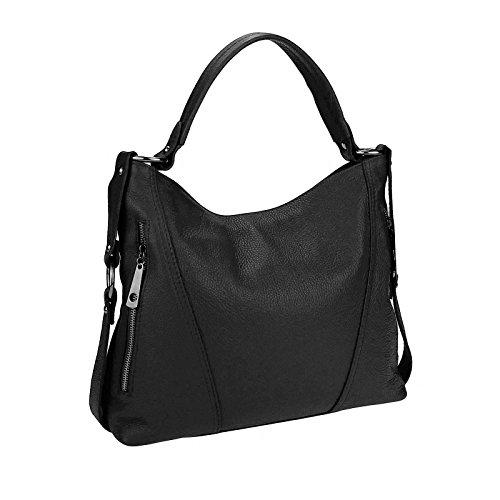Made Italy , Sac bandoulière pour femme 39x39x9 cm (BxHxT) Noir - Noir