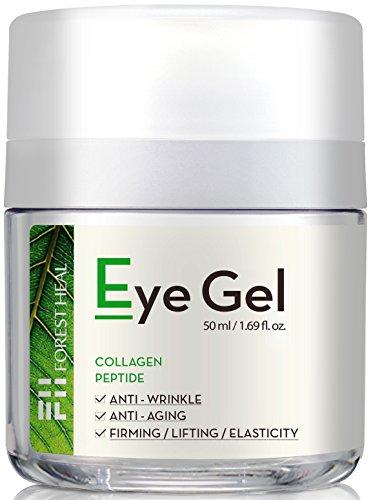 Wald heilen Eye Gel mit Kollagen Peptide und Niacinamid - Natürliche Anti-Aging, Anti-Falten-Creme für unter und um die Augen - 50ml /1.69 fl.oz. -